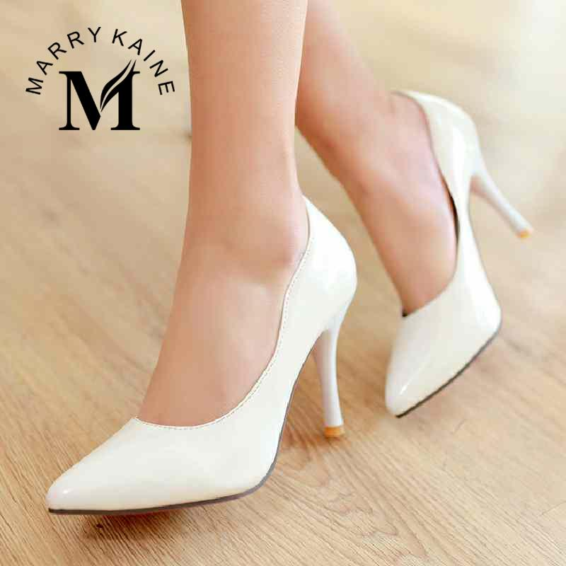 Concise Style Shoes For Lady Women Pumps Sexy Red Bottom Pointed Toe Less Platform Thin High Heels Party Office Lady Pumps<br><br>Aliexpress