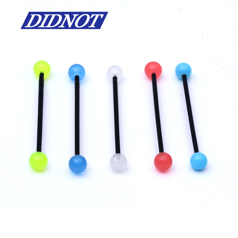 5pc Mix Colors UV Acrylic Ear Industrial Nail Tragus Tongue Long Rod Rings Studs Bar Ring Barbell Body Piercing Jewelry(China (Mainland))