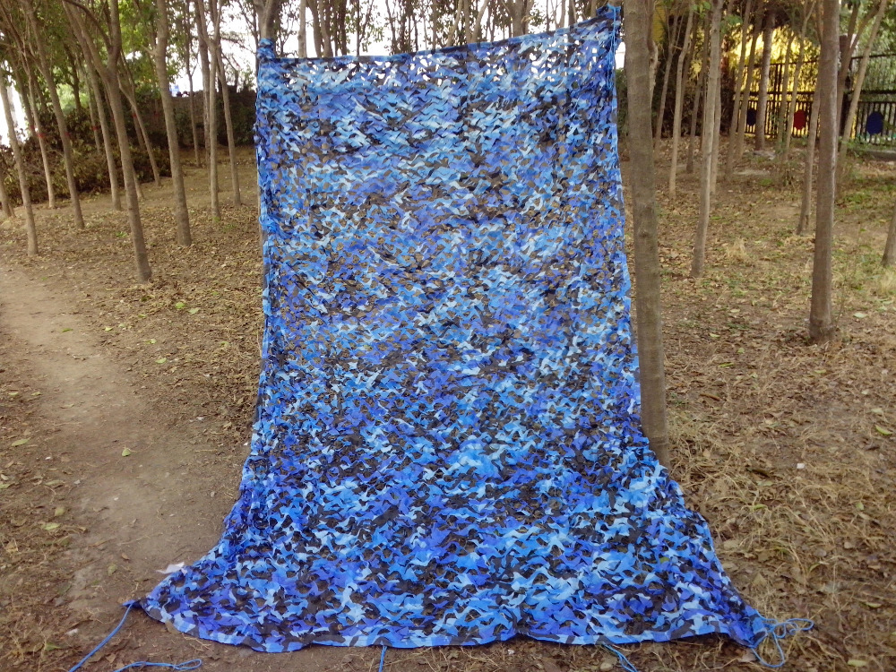 Free Shipping 2X6m Military Blue Camouflage Net Sky Color Sun Shade Tent Camo Netting for Hunting Camping Home Decoration<br><br>Aliexpress