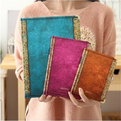 Europe Style Vintage Simple Design Creative Eco-friendly Craft Portable Hardcover Daily Notebook Lovely Notepad Student Use PL(China (Mainland))