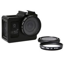 Universal Aluminum Alloy Protective Case with 40.5mm UV Filter Lens Protective Cap for SJCAM SJ6000 SJ4000  Sport Action Camera(China (Mainland))