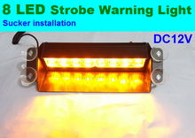 8W 8 LED car Emergency Vehicle Warning Strobe Flash Light Red Blue Yellow White mixed colors