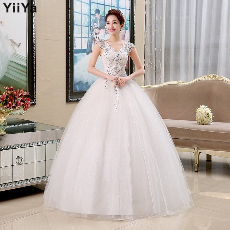 Free shipping 2015 new arrival romantic white wedding for Cheap fashion wedding dresses