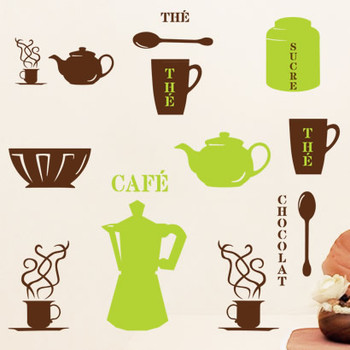 Wall stickers casual sooktops restaurant dining table wall stickers sticker wall decoration kitchen cabinet decoration