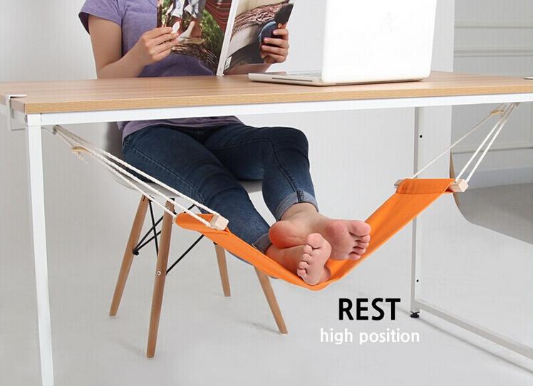 Гаджет  1 Piece FUUT Desk Feet Hammock / The Foot Hammock Orange,Free Shipping None Мебель