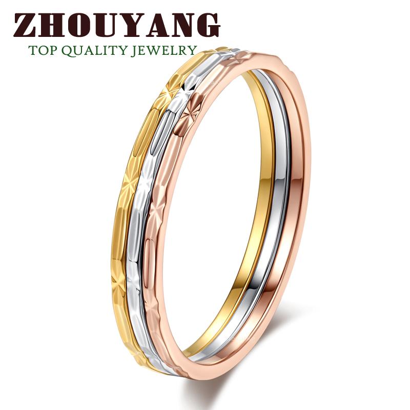 Кольцо ZhouYang Jewelry R029 18K ZYR029 кольцо zhouyang jewelry r239 18k zyr239
