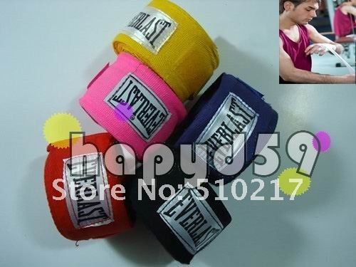 1pair high quality cotton hand wraps boxing bandage Judo Taekwondo Sanda hand bandage 5M*5CM free ship