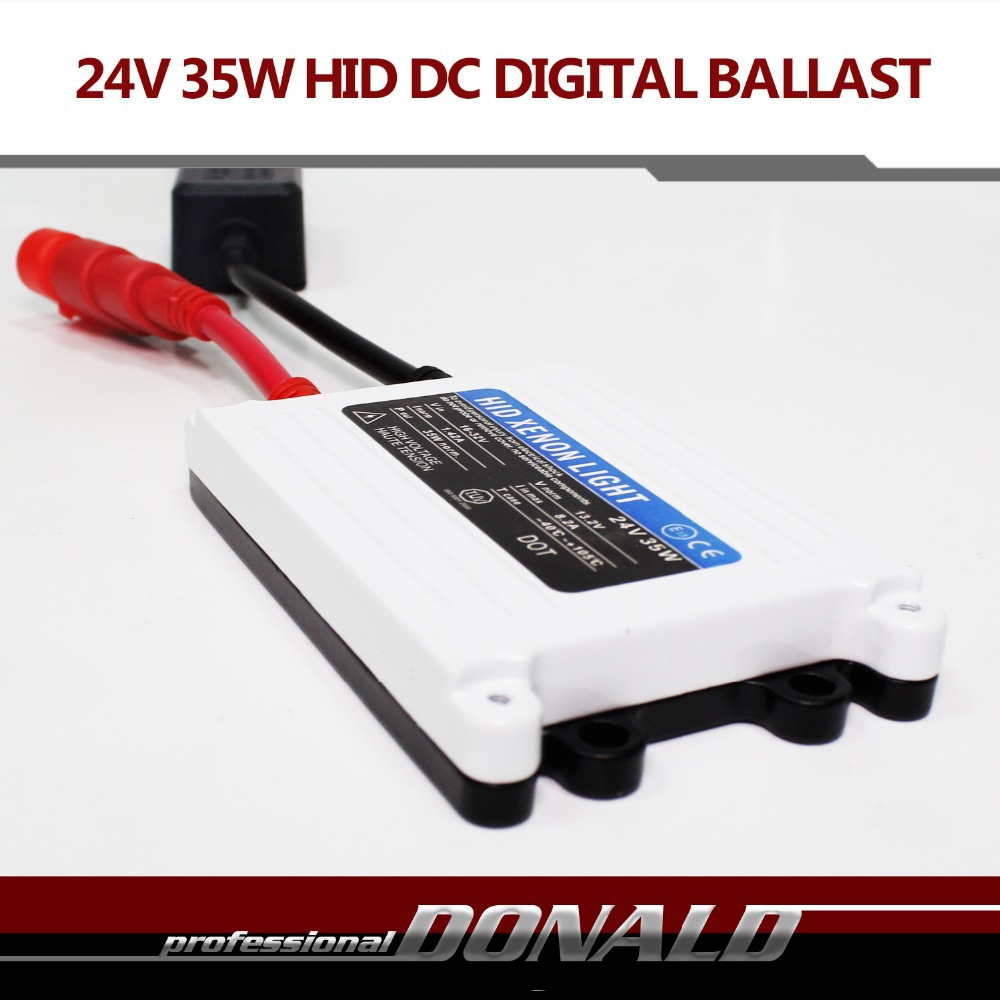 Free shipping TOP Quality 1pc DC 24V 35W HID slim digital xenon ballast hid ballast car