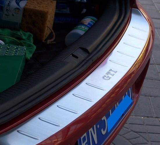 stainless steel rear guards bumper guard car trunk doorsill Fit Golf GTI/Golf 6