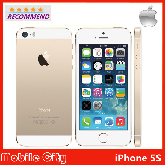 """Original Apple Factory Unlocked Refurbished iPhone 5S Cell Phone iOS 8 4.0"""" IPS HD Dual Core A7 GPS 8MP WIFI 32GB Free Shipping(China (Mainland))"""