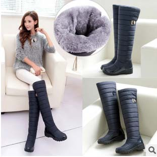Winter Women Snow Boots 2015 High Quality Ladies Over The Knee High Boots Waterproof Warm Shoes Size 35-40(China (Mainland))