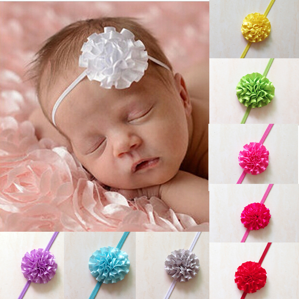 6/PCS Newborn Baby Headwear Cute Lace Big Flower Multicolor optional Children Baby Headband/hair accessories(China (Mainland))