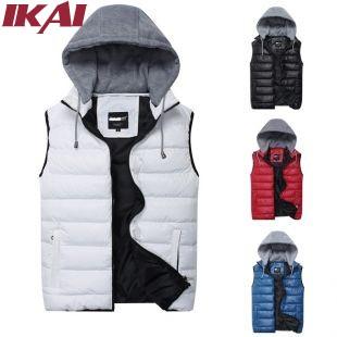 SML010-5 Men Winter Hooded Outer & Coats Fashion Casual Sleeveless Jacket Free Shipping Men Warm Vest(China (Mainland))