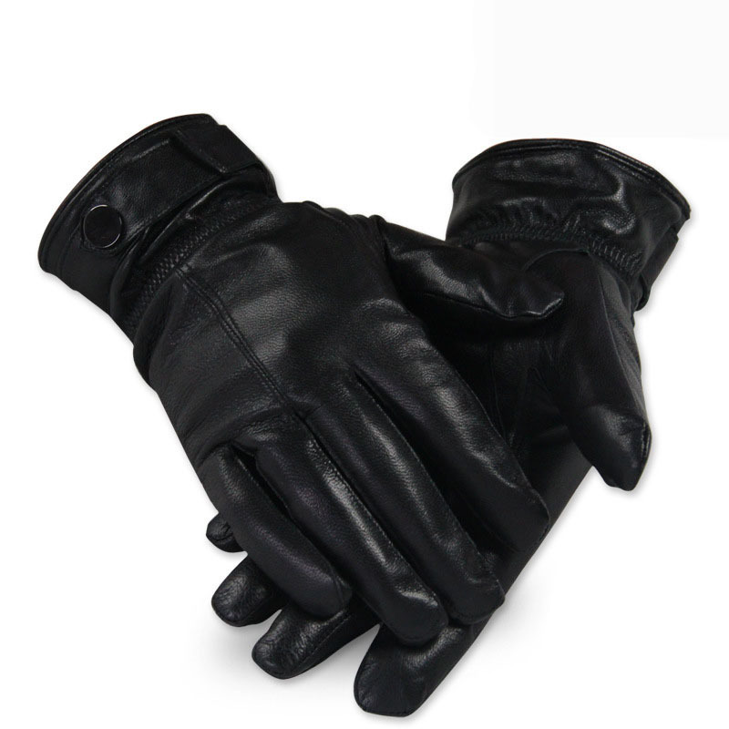 2015 Gloves Fall Winter Men Male Outdoor Sport Leather PU Fashion Black Dress Waterproof Windproof Warm Gloves(China (Mainland))