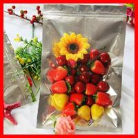 Zip Lock Bags 10pcs/lot 20cm*30cm*160mic High Quality Half Clear + VMPET Zip Lock Bag Heat Sealer Bags Packaging Plastic Bag(China (Mainland))