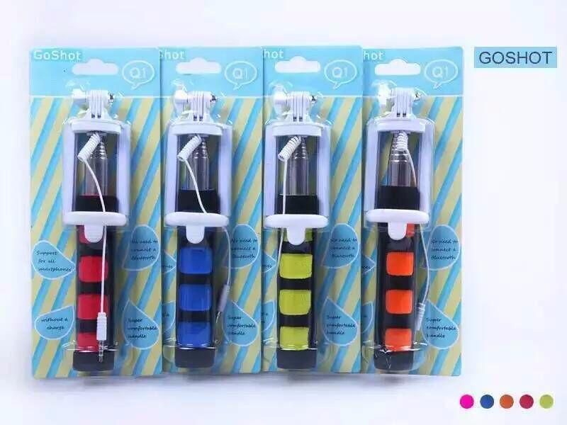 100pcs/lot DHL free shipping Nueva llegada Q1 monopie con 3.5 mm cable remoto selfie stick para telefonos moviles(China (Mainland))