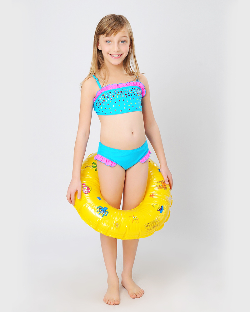 Girl Swimsuit Kids Triangle Bikini Brand Little Girl Bath ...