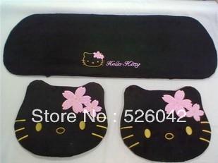 Car seat cushion cherry hello Kitty cartoon car small Parure decoration Black Pink