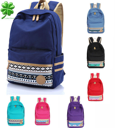2015 Hot Sale style canvas backpack big capacity student school bag casual travel backpack Cute Korean style fashion girls(China (Mainland))