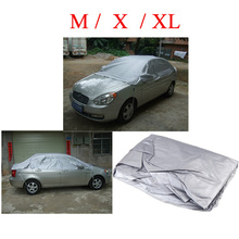 Waterproof Half Universal Car Covers Styling Prevent PVC Snow Resistant Coating Breathable UV Protection Outdoor Indoor Shield(China (Mainland))