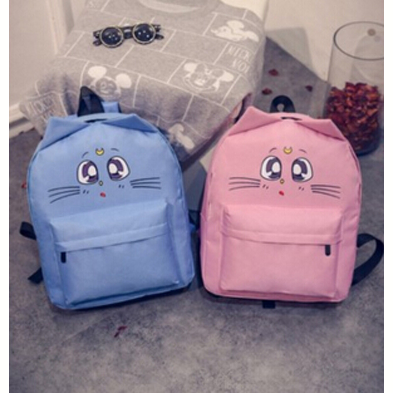 wholesale women shoulder bag cat ear canvas cute school bags backpacks teenage girls mochila feminina Outdoor Travel Pack DL1925(China (Mainland))