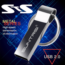 Suntrsi Metal Steel Ring USB Stick USB flash drive pen drive 8GB/16GB/32GB/64GB usb stick external storage pendrive free ship(China (Mainland))