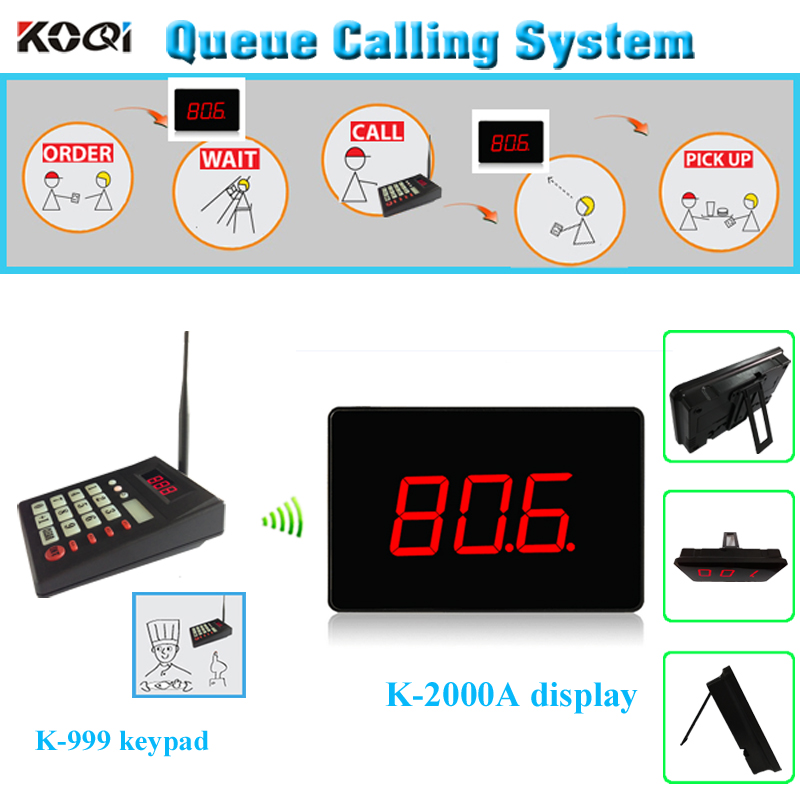 Guest pager system queue paging service restaurant call system 1 transmitter 1 counter monitor(China (Mainland))