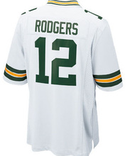 2016 NEW MEN 'S 12 Aaron Rodgers 27 Eddie Lacy 87 Jordy Nelson 52 Clay Matthews white green stitched elite jersey(China (Mainland))