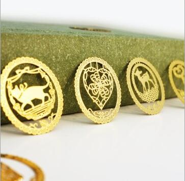 Gold Metal Bookmark Clips for Books Paper Book Mark for Kids Creative Products Office Supplies(China (Mainland))