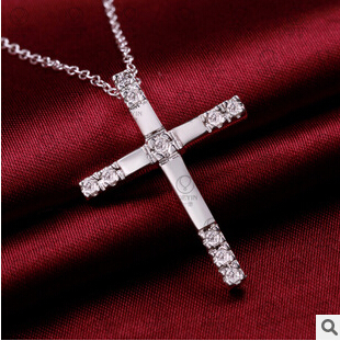 produto The latest  fashion 925 silver cross upscale elegant set auger adorn article   necklace or women men children