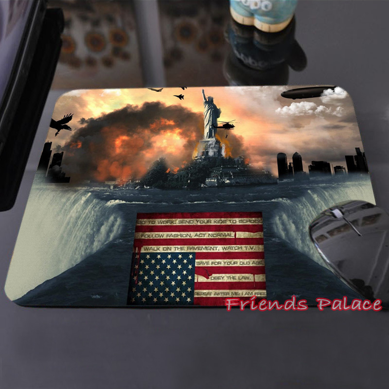 Best Sales Customized Mouse Pad American Flag New World Order Statue of Liberty Computer Notebook Rectangle Rubber Mouse Mat Pad(China (Mainland))