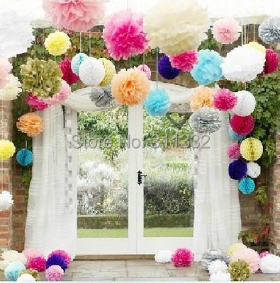 20pieces/lot 15cm(6 inch),Pom poms, Tissue Paper Flower Ball Craft Poms Flower,20 colors,Wedding Party Decoration - Shenzhen Sunnypie Trade Co.,Ltd. store