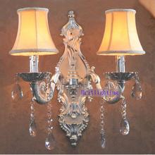 Große messing wandleuchte silber-finish kerzen halter KTV wand Lampe 5 sterne hotel wandleuchten nachttischlampen moderne wand Montieren(China (Mainland))