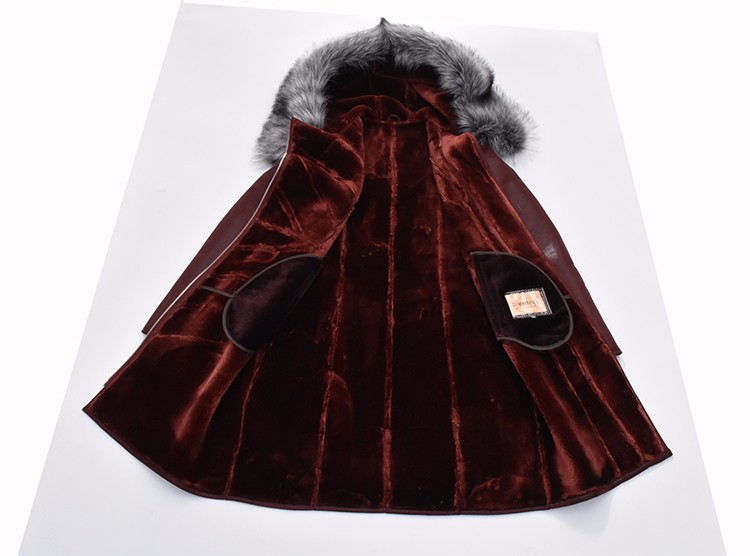 Factory Direct Supplier Collar Fox Fur Women Coat Winter Fashion Sheepskin Faux Slim Hooded Thickened Fur Suede Bust 142Cm New