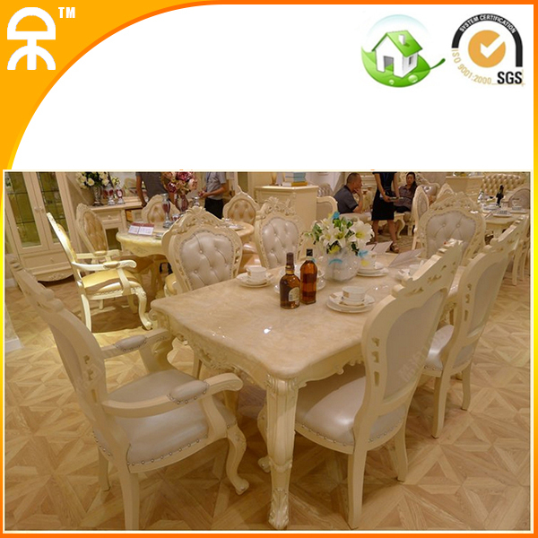 1.6 meter natural marble dining table furniture 4 pcs dining chair(China (Mainland))