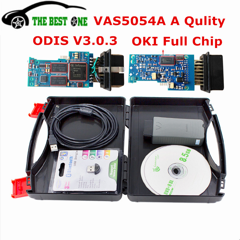Newest Cracked V3.0.3 ODIS VAS 5054A OKI Full Chip VAS5054A Bluetooth VAS 5054 Support UDS For VW Group Car Diagnostic Tool(China (Mainland))