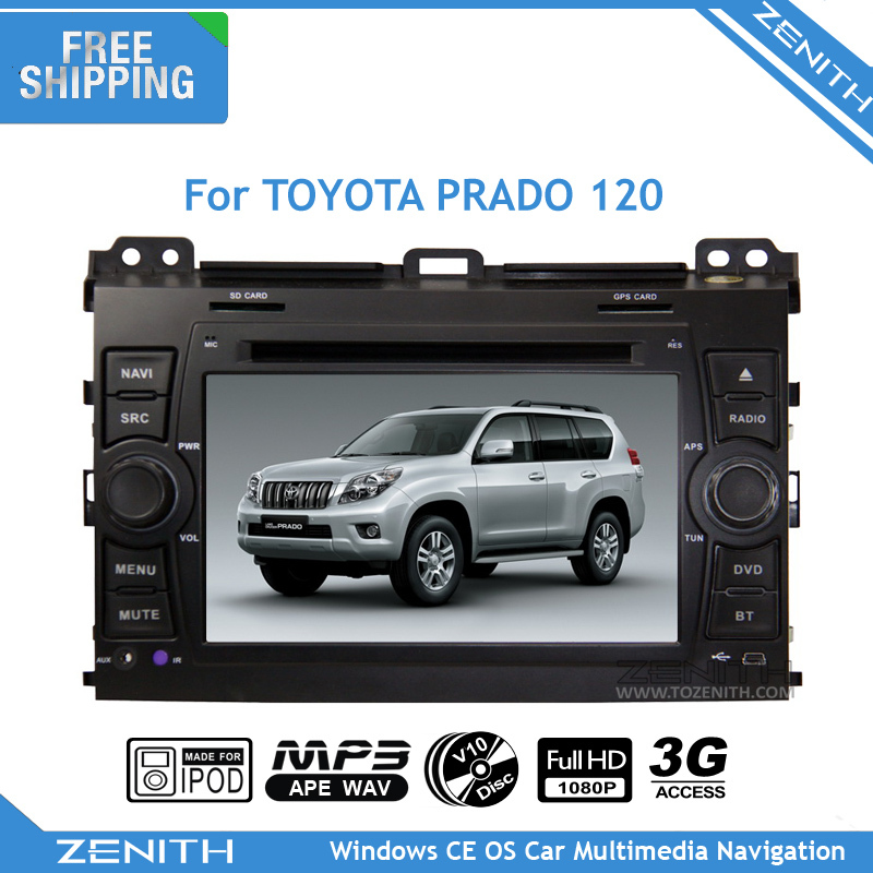 Free shipping toyota prado 120 Car DVD GPS Navigation TV 3G RDS Radio GPS Navigation free map accessories for car toyota prado(Hong Kong)