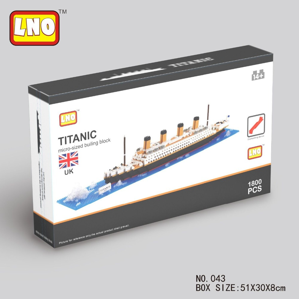 High Huality 2016 New 1680Pcs LNO Titanic Ship Building Blocks Sets Boat Model Children Birthday Presents Toys Gifts(China (Mainland))