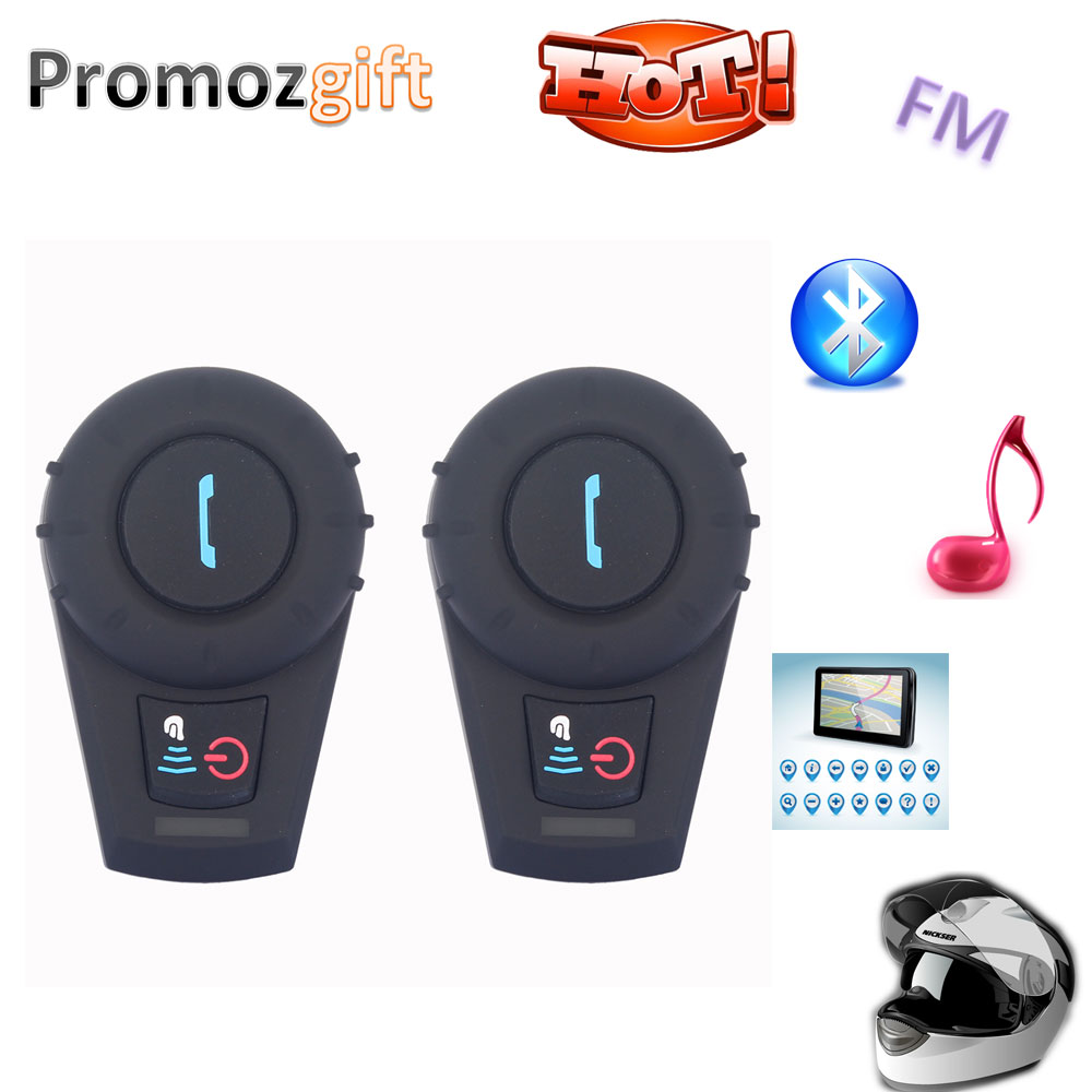 2 PCS FDCVB bt interphone bluetooth motorcycle 500M HiFi BT Bluetooth Motorcycle Interphone Helmet Intercom Headset(China (Mainland))