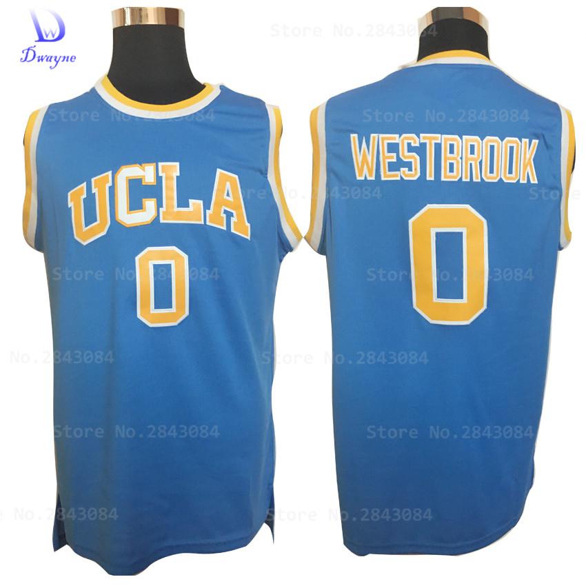 2017 Dwayne Mens Cheap Throwback Basketball Jerseys #0 Russell Westbrook Jersey UCLA Bruins Retro Stitched Embroidery Shirt(China (Mainland))