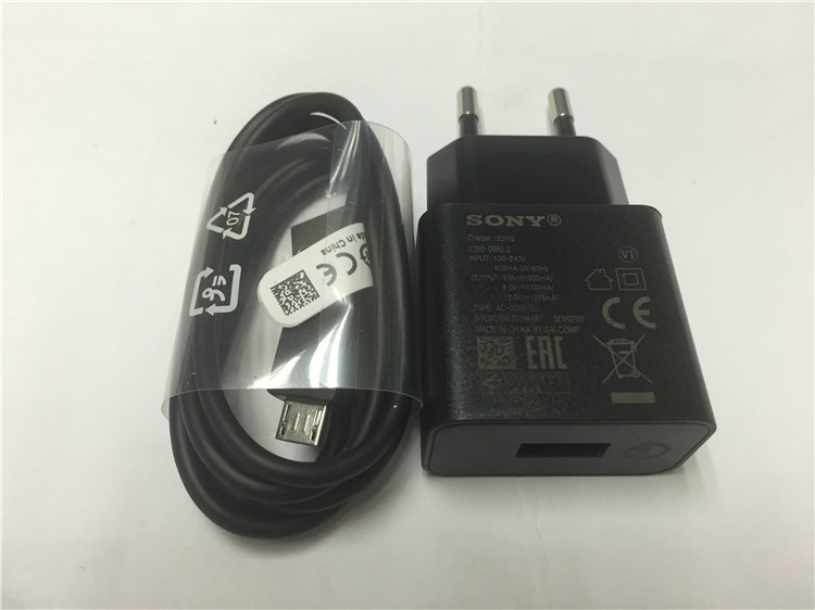 Original Fast charger FOR SONY Z4 Z5 Z5P Z3 UCH10 QC2.0 5V/9V/12V USB wall Quick charger+USB micro data cable&Type-C cable