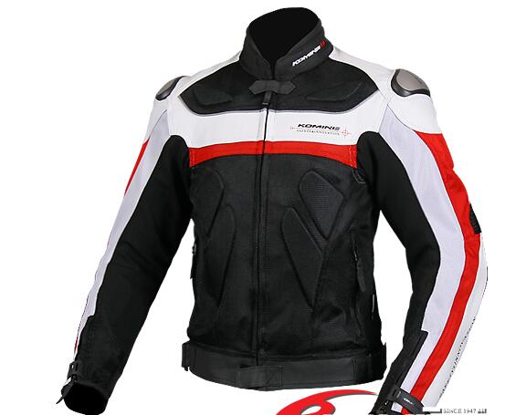 Shipping free Japan JK KOMINE-061 titanium leather with mesh clothing suits for motorcycling 2 colors KE1350(China (Mainland))