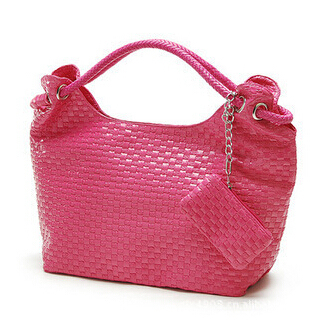 New Cheap Products Fashion Lady's Bags Women PU Leather Shoulder Bag Elegant Lovely Faux Weaved Tote  A61