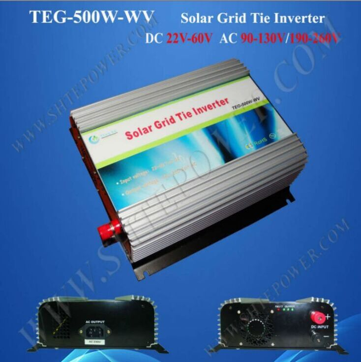 CE certificate 500w grid tie inverter dc ac solar, DC 22-60V solar grid connected inverter(China (Mainland))