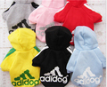 Oh My Puppy Free Shipping Dog Clothes seven colors Fashion movement fleece Dog Winter Cothes