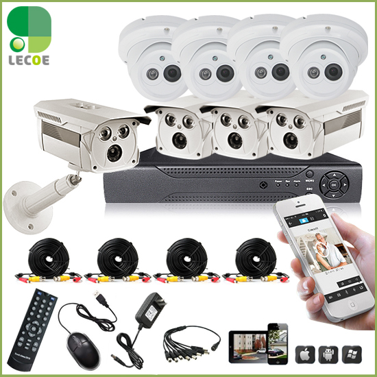 1200TVL Surveillance CCTV System 8CH CCTV DVR with 960H CMOS IR Cameras Security System with IR Cut Filter 8CH DVR Kit<br><br>Aliexpress