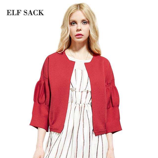 Elf SACK весна королевский женщин все все-матч широкий старинные сплошной цвет короткая ...