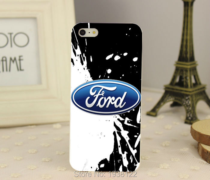 New Ford car logo hard white Skin Case for iphone 5 5S 4 4g 4S 5C Retail(China (Mainland))
