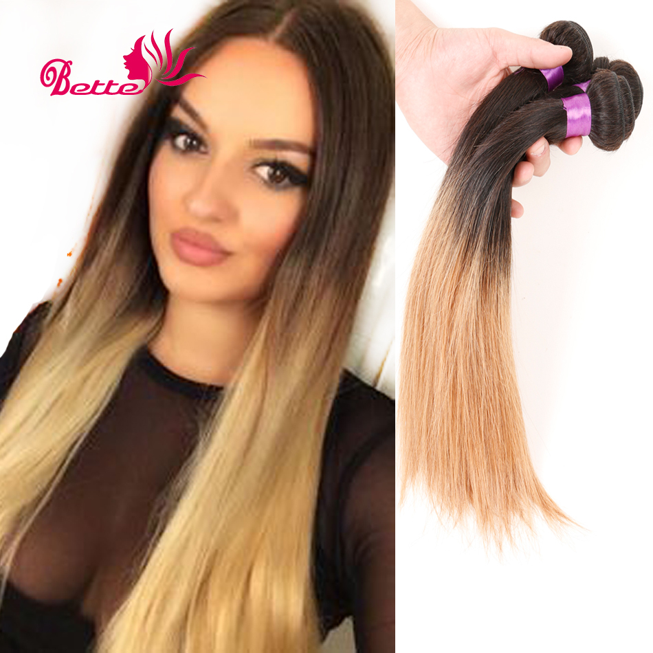 Best Brazilian Ombre Hair Extensions Straight Two Tone Human Hair Weave Mix 3pcs Straight Ombre Hair Brazilian Straight Hair
