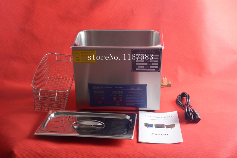 6L Ultrasonic cleaner Timer Heater Stainless Digital power adjustable free shipping(China (Mainland))